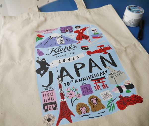 55840e387e8f KIEHL'S LOVES JAPAN 限定エディショントートバッグもすごく可愛い。